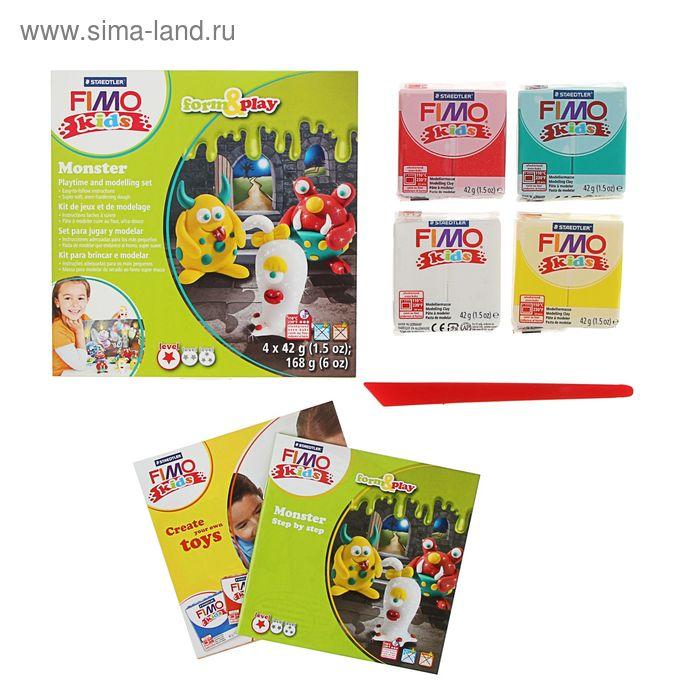 "Набор пластика-полимерная глина для детей FIMO kids form&play ""Монстр"""