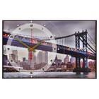 """Часы-картина """"Бруклинский Мост"""", 37х60 см"""