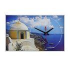 """Часы-картина настенные прямоугольные """"Греция"""", 37х60 см"""