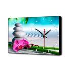 """Часы-картина """"Розовый цветок"""", 37х60 см"""