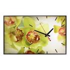 "Часы-картина ""Оливковые цветы"", 37х60 см"