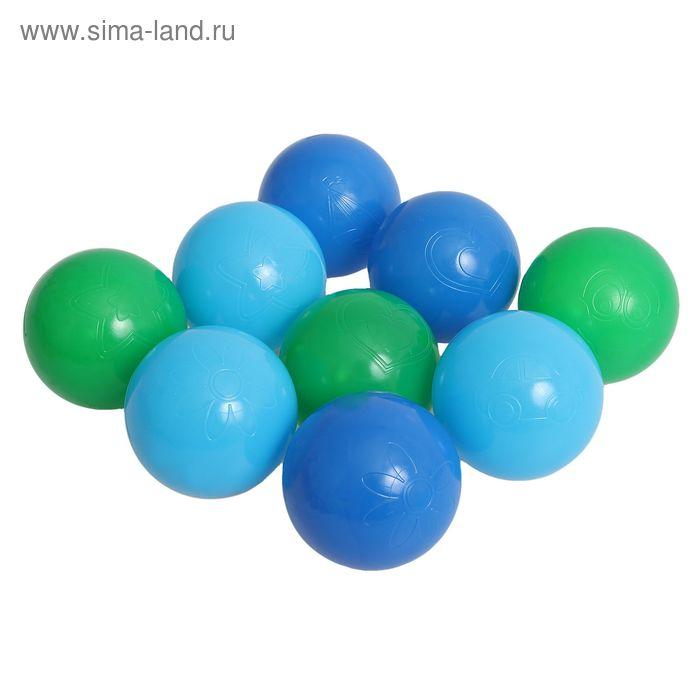 """Шарики для сухого бассейна """"Морские"""" с рисунком, диаметр шара 7,5 см, набор 9 шт."""