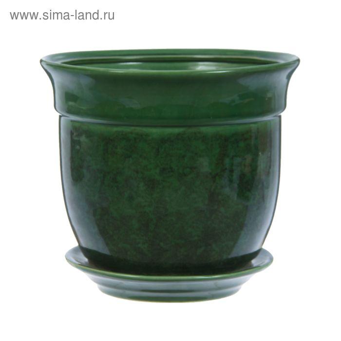 """Кашпо """"Идея"""" зелёное 5,5 л"""