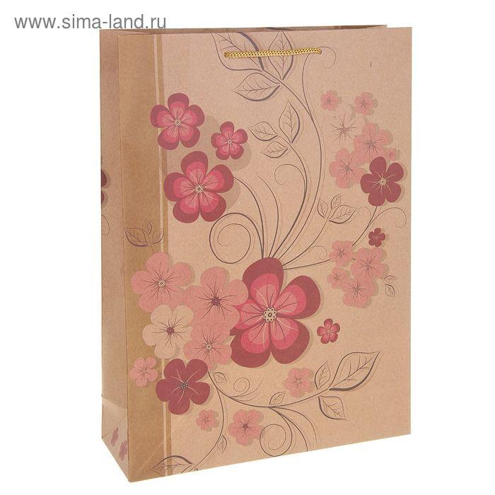 """Пакет крафт """"Весенние цветы"""""""