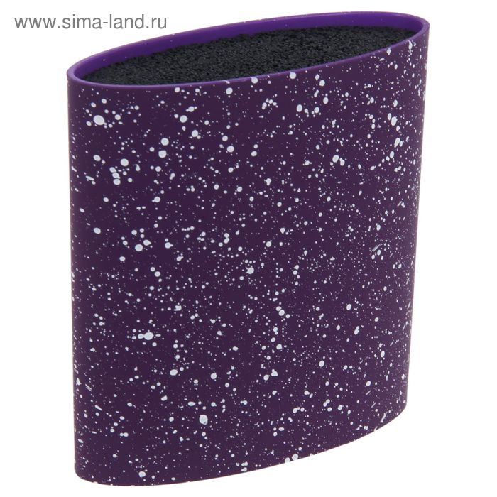 """Подставка под ножи с наполнителем """"Зефир"""", овальная, цвет фиолетовый"""