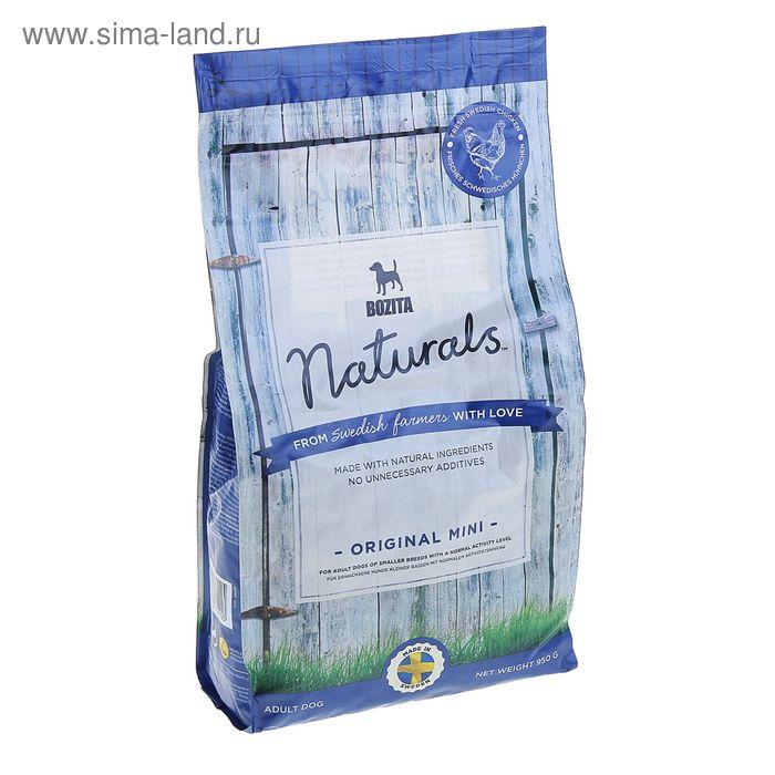 Сухой корм для собак мелких пород BOZITA Naturals Original Mini 21/11 950гр