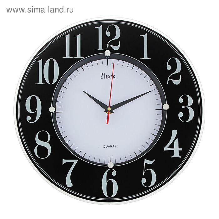"""Часы настенные """"Классика"""", ретро-стрелки, цифры на черном ободе, 34 см"""