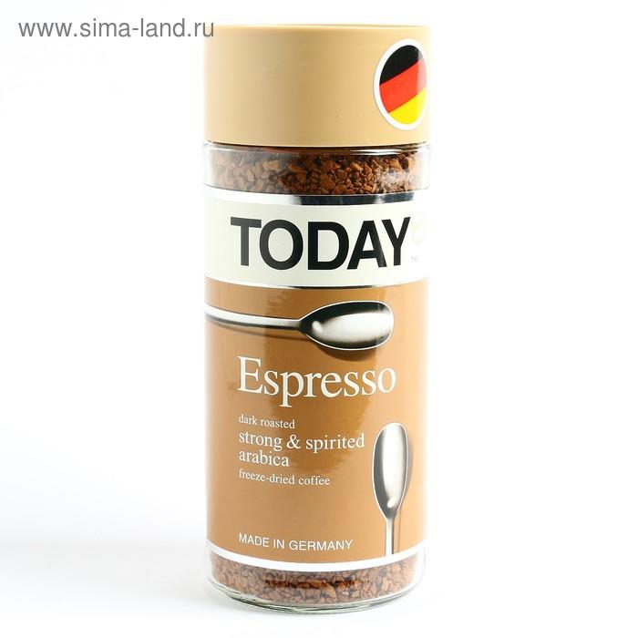 Кофе Today Espresso, натуральный растворимый, сублимированный, 95 г