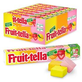 """Жевательная конфета Fruittella, """"Ассорти"""", с натуральным соком, 42,5 г"""