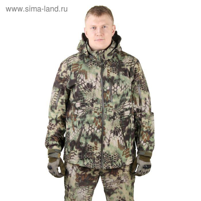 Куртка для спецназа демисезонная МПА-26 ткань софтшелл, КМФ питон лес (50/4)