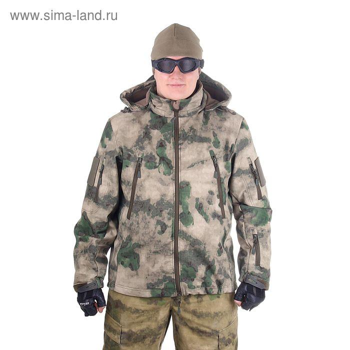 Куртка с капюшоном для спецназа демисезонная МПА-26 (тк.софтшелл) КМФ мох (52/5)