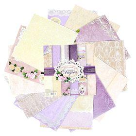 """Набор бумаги для скрапбукинга """"Наша свадьба"""", 30,5 х 30,5 см, 12 листов, 180 г/м"""