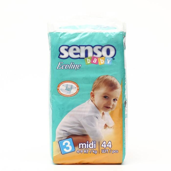 Подгузники «Senso baby» Ecoline, Midi, 4-9 кг, 44 шт/уп