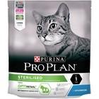 Сухой корм PRO PLAN для стерилизованных кошек, кура/кролик, 400 г