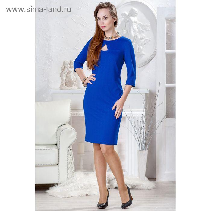 Платье женское 4429 С+, размер 54, рост 164 см, цвет василек