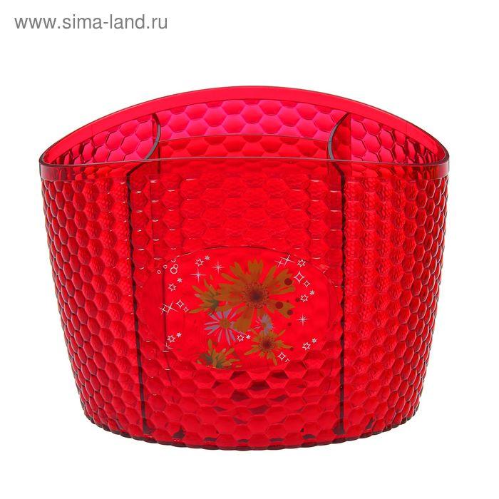 """Подставка под столовые приборы """"Мозаика"""", цвет красный"""