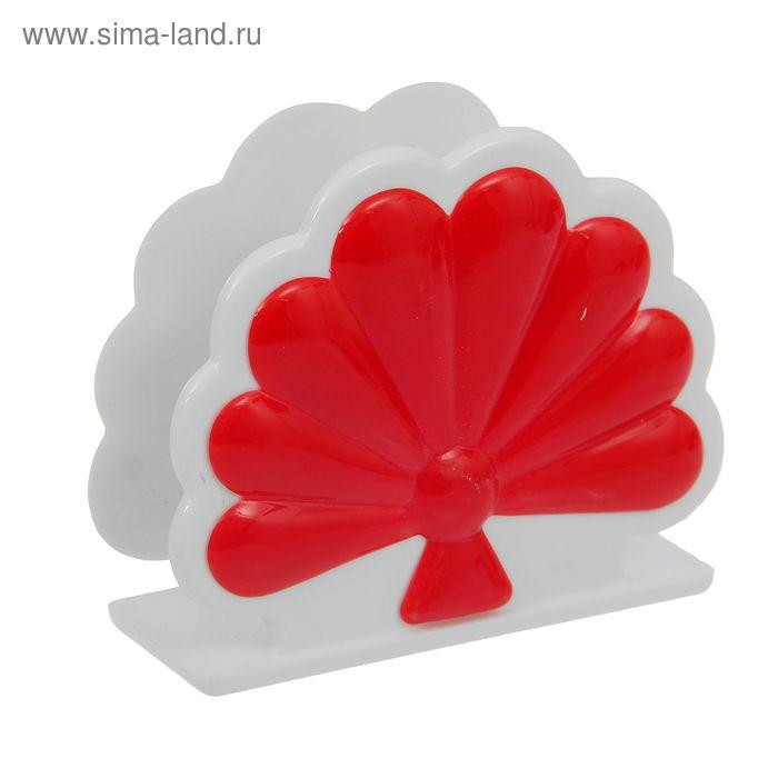 """Салфетница """"Жар-птица"""", цвет бело-красный"""