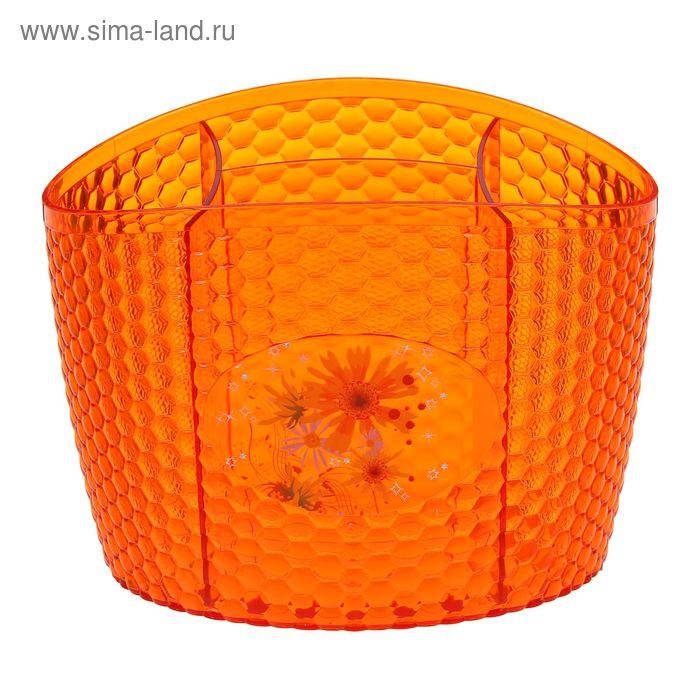 """Подставка под столовые приборы """"Мозаика"""", цвет оранжевый"""