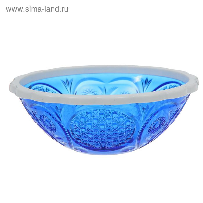 "Салатник 500 мл ""Хрусталь"", цвет синий"