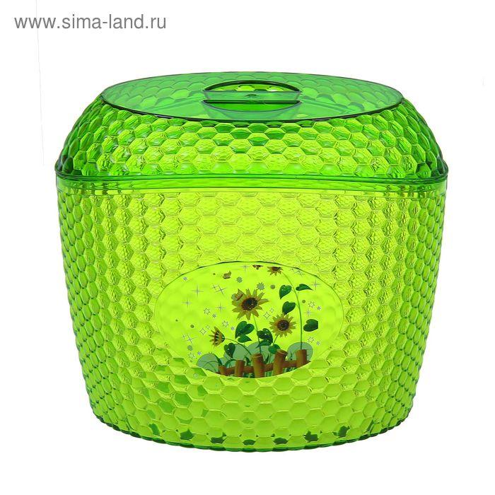 """Ёмкость для сыпучих продуктов 3 л """"Мозаика"""" , цвет зеленый"""