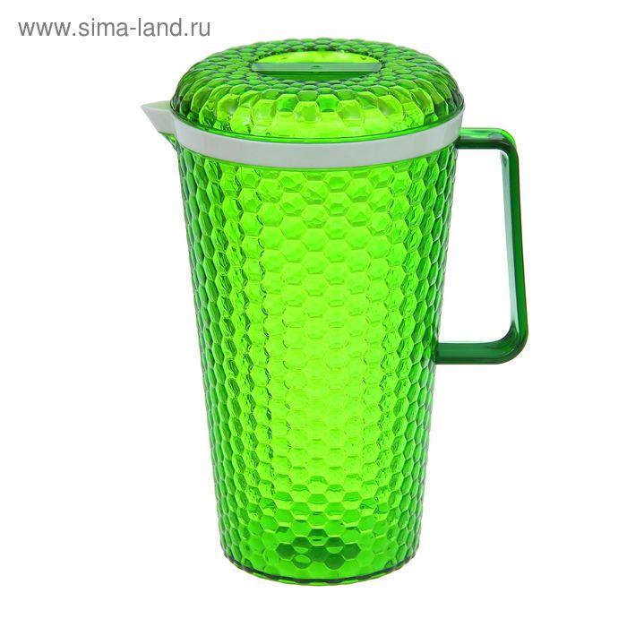 """Кувшин с крышкой 2,5 л """"Мозаика"""", цвет зеленый"""