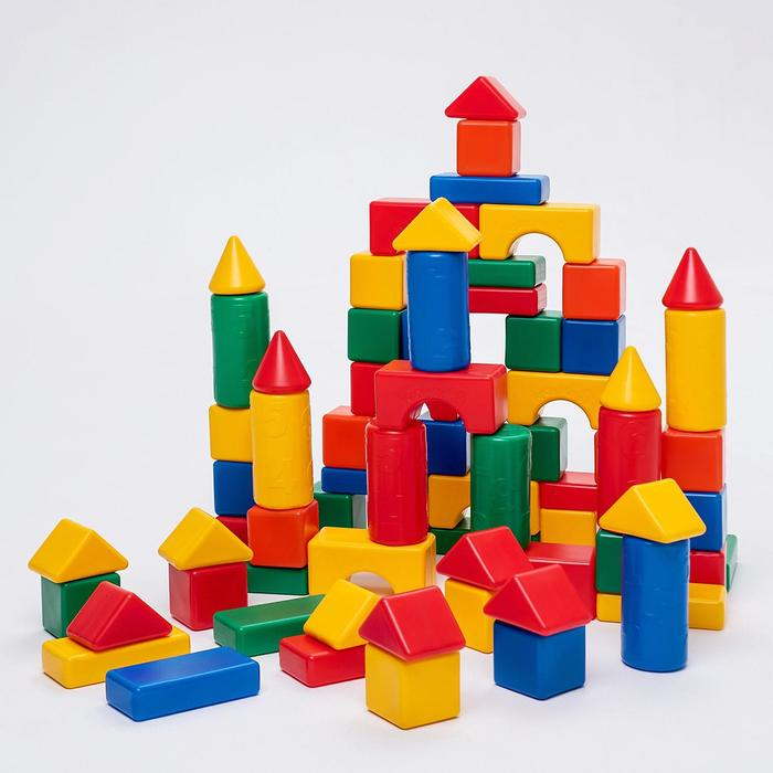 Строительный набор, 72 элемента 6 х 6 см
