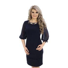 Платье женское 13-89, цвет синий, р. 52, рост 164