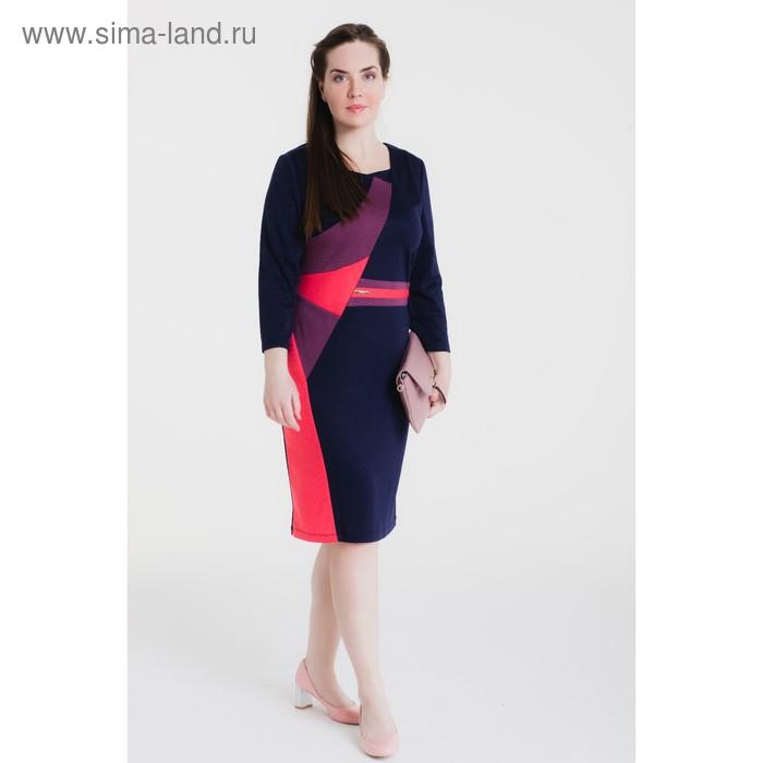Платье женское 14-44, рост 164 см (48), цвет синий