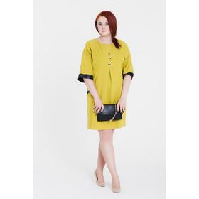 Платье женское 14-50, цвет салатовый/черный, р. 52, рост 164