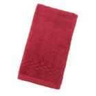 Полотенце Collorista однотонное, цвет бордовый, размер 40х70 см +/- 3 см, 400 гр/м2