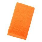 Полотенце Collorista однотонное, цвет оранжевый, размер 40х70 см +/- 3 см, 400 гр/м2