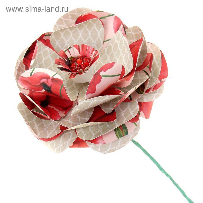 """Набор по созданию цветка """"Яркий мак"""", 29,5 х 29,5 см"""