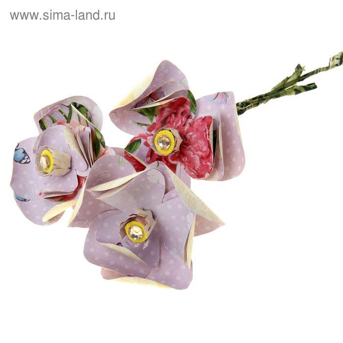 """Набор по созданию цветка """"Нежный букет"""", 29,5 х 29,5 см"""