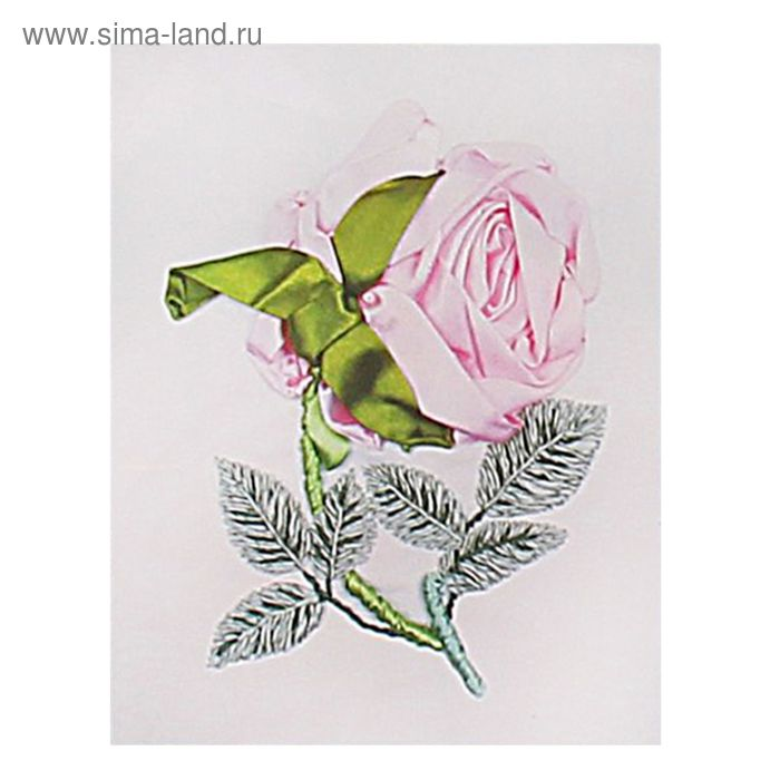 """Набор для вышивания лентами """"Роза"""" размер основы 30*30 см"""