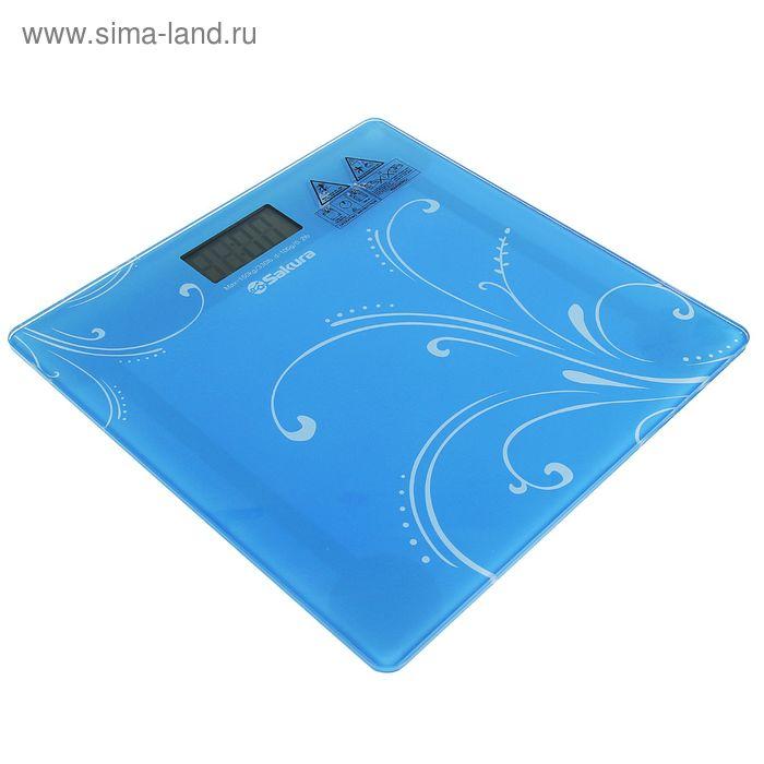 Весы напольные Sakura SA-5065 Ultraslim, электронные, до 150 кг, голубые