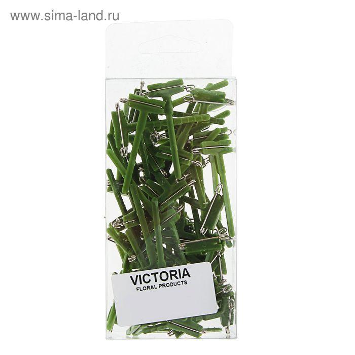Заготовка для бутоньерки, зеленая, 2 х 5 см