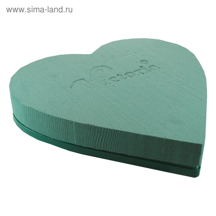 """Губка флористическая """"Виктория"""" сердце на пластиковой подставке, 30 х 28 х 5 см"""