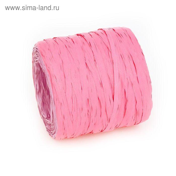 Рафия однотонная, ярко розовый, 200 м
