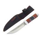 """Нож нескладной """"Командор"""", 20,5 см, в чехле, на рукояти чёрная полоска"""