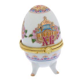 """Яйцо-шкатулка пасхальная """"ХВ. Церковь"""""""
