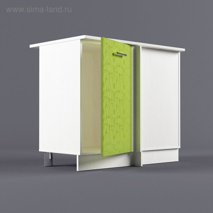 Шкаф напольный угловой правый 850*1000*600 Лайм