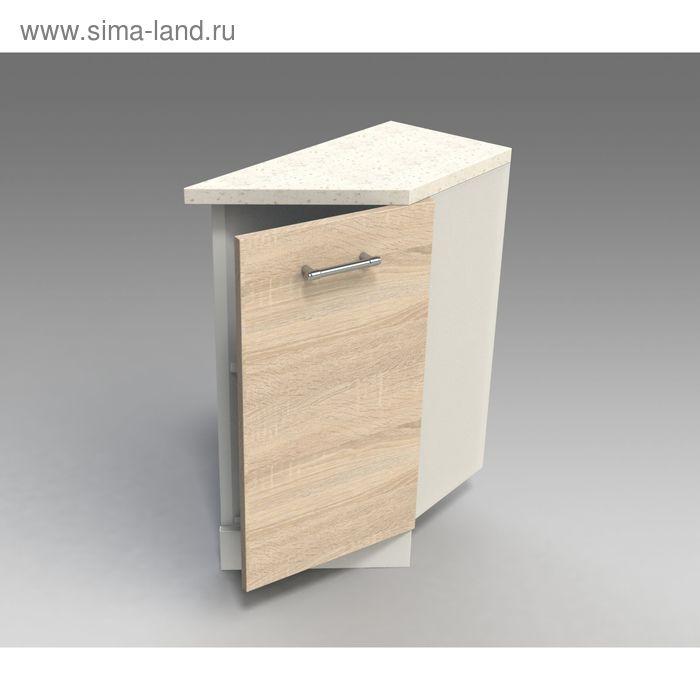 Шкаф напольный  скошенный правый 850*300*600  дуб сонома