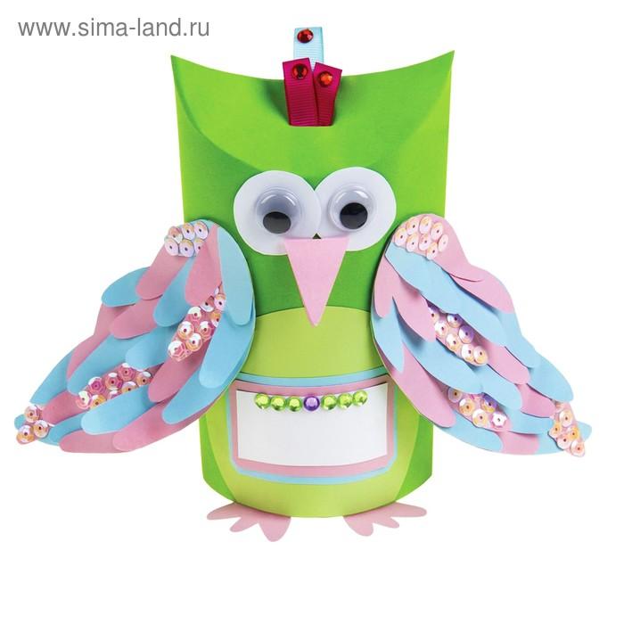 "Набор для создания игрушки-коробки из бумаги ""Птичка"""