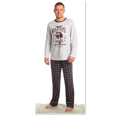 Комплект мужской (джемпер, брюки), размер 52, цвет коричневый (арт. 945)
