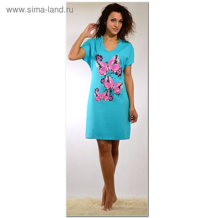 Платье женское 563к бирюза, р-р 48