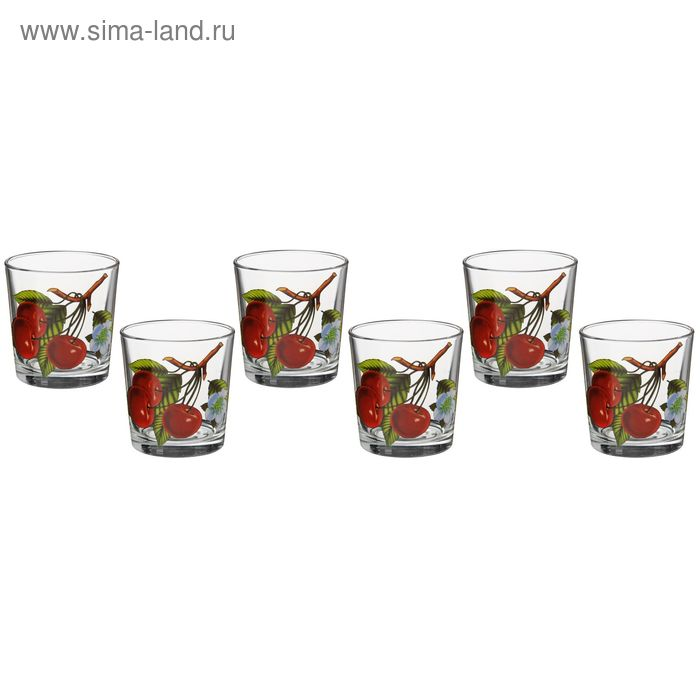 "Набор стаканов 250 мл ""Вишня"", 6 шт"