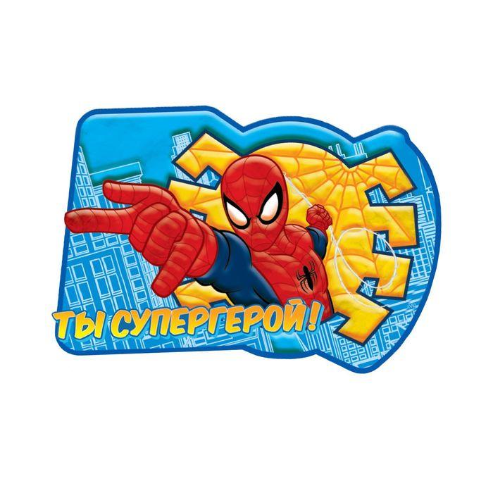 """Аппликация пластилином """"Ты супергерой!"""", Человек Паук, 6 цв. пластилина, наклейки, А5"""