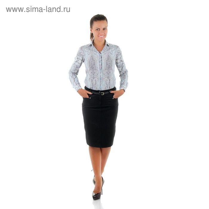 Юбка женская, размер 52, рост 170, цвет чёрный (арт. 486 С+)