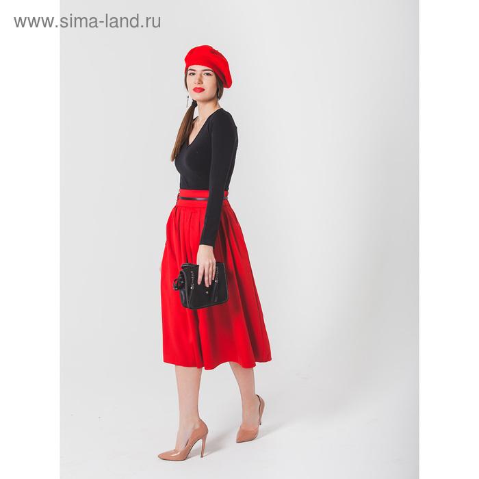 Юбка женская 455, размер 44, рост 170, цвет красный