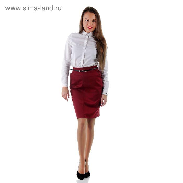 Юбка женская 486, размер 42, рост 170, цвет бордо